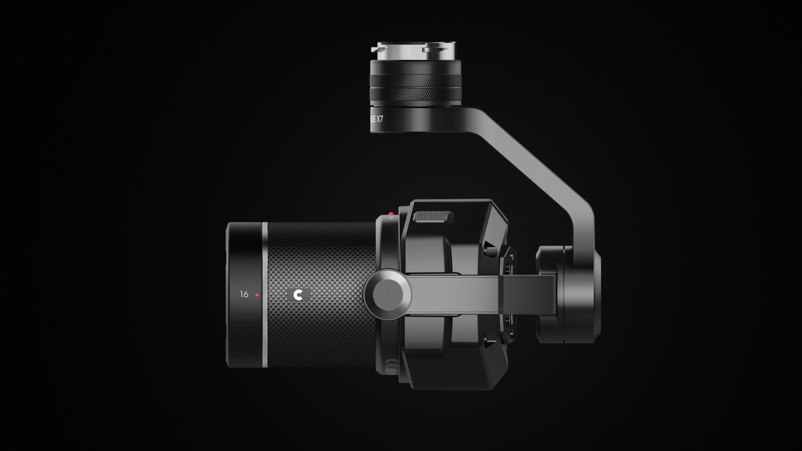 DJI X7 kamera med 16mm