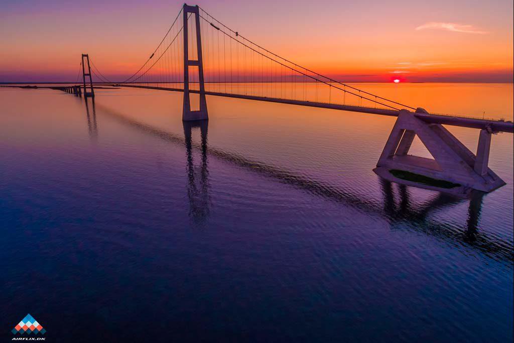 Storebæltsbroen-dronefoto