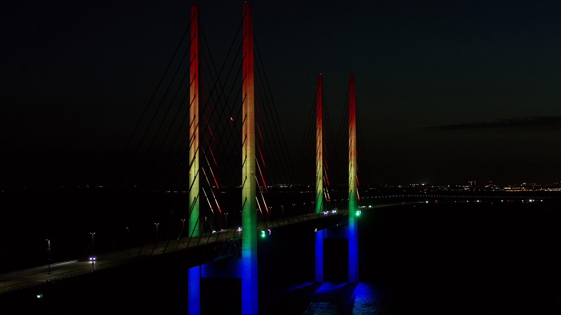 Dronefoto Øresundsbron - Copenhagen Pride